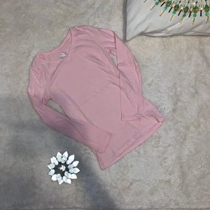 Justice Pink Long Sleeve Shirt Girls Size 8